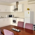 Premium 2BR Apartment at Regency Apartments has a full kitchen