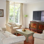 Premium 2BR Apartment at Regency Apartments has a lounge area with excellent movie playing facilities
